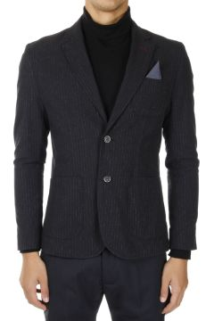 Cotton Linen Single Breasted Blazer