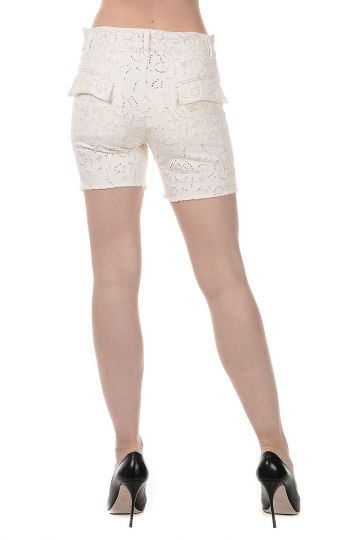 Pantaloni Shorts in Cotone Stretch