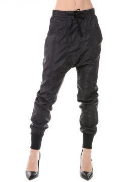 Pantaloni Oversize in Misto Seta