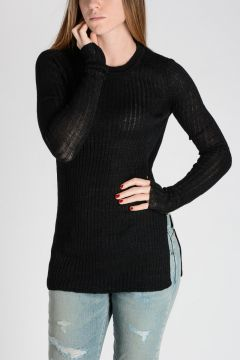 Ribbed Linen blend Sweater