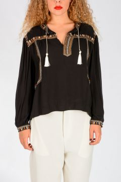 ETOILE Embroidered Viscose Top