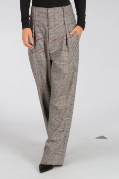Prince of Wales Wool Blend Pants