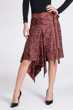 Silk TREVA Wrap Skirt