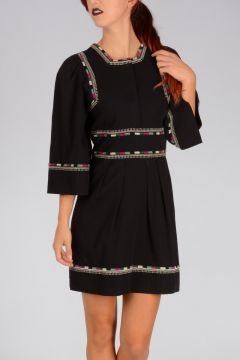 Embroidered Cotton SHAYNE Dress