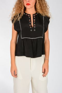 Studded Silk FLORENT Top