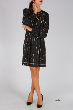 Printed Silk Twill RABEA Dress