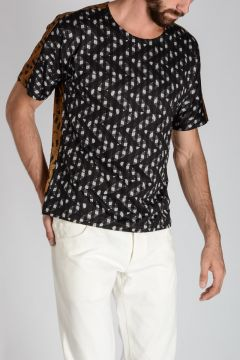 MEN Printed Cotton Blend t-Shirt