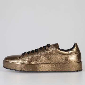 Sneakers in Pelle Metallizzata Oro