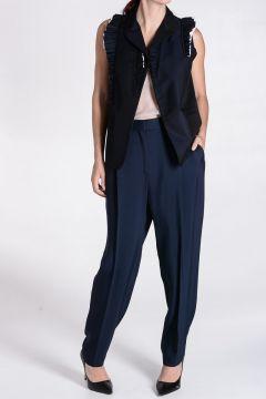 Cotton wool Sleeveless blazer