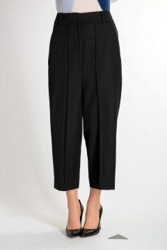 Pantaloni Cropped in Lana Vergine