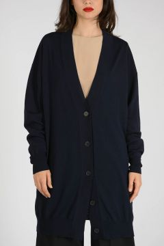 Virgin Wool Long Cardigan