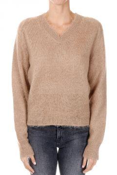 V neck Mohair Blend Sweater