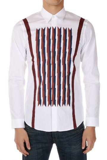 Camicia in Popeline di Cotone Con stampa