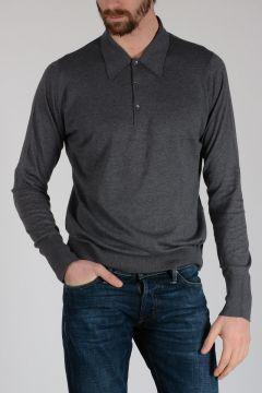 Cotton Long Sleeves Polo