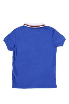T-shirt in Jersey di Cotone con Colletto Polo