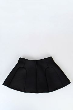 Stretch Fabric Flared skirt