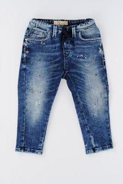 Jeans In Denim Stretch con Applicazioni