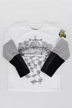 Maglietta in Cotone a Manica Lunga