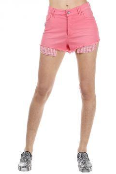 Pantaloncini Denim con Spilla