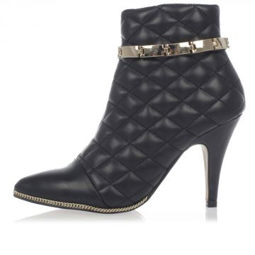 Quilted Leather Ankle Boots