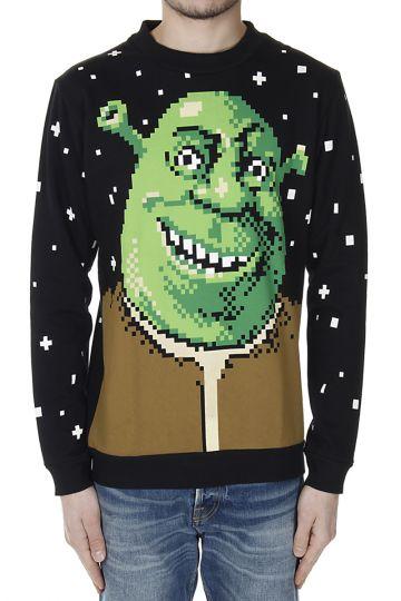 SHREK PIXELS Printed Sweatshirt