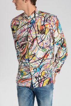 Printed Popeline Cotton shirt