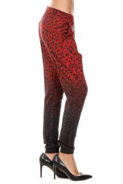 Pantalone in Cotone stretch con Stampa Leopardata