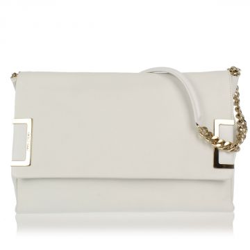 Grained Leather Shoulder Tasche