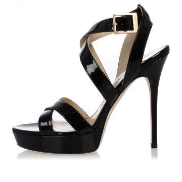 Sandalo in Pelle Vernice 12 cm