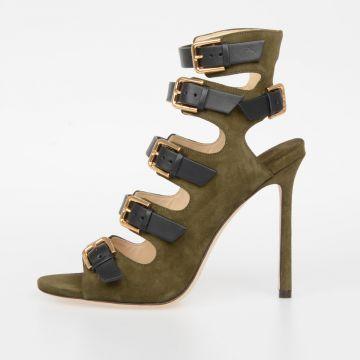 10cm TRICK Leather Sandals