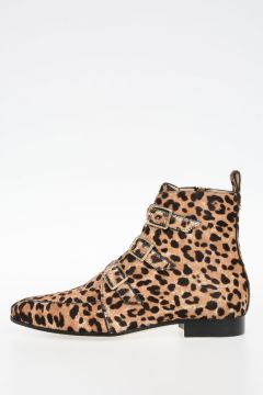 Leopard Printed Pony Skin MARLIN Ankle Boots