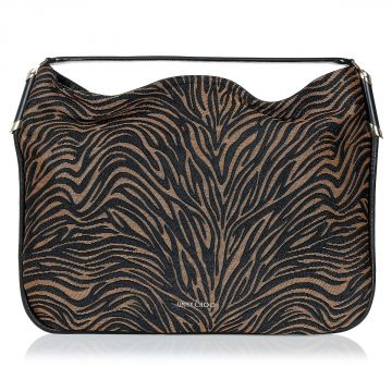 Printed Raffia Big OBO Shoulder Bag
