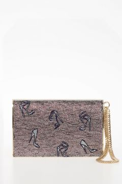 Embroidered Lame CARMEN Handbag
