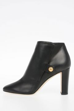 Leather MEDAL Ankle Boots 8.5 cm