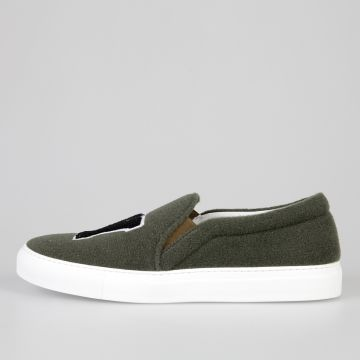 Fabric FELT NY MILITARY Slip On Sneakers