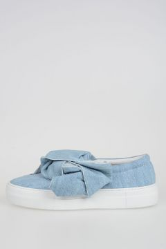 Denim Slip Ons with Bow