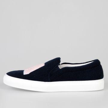 Sneakers Slip On FELT LA BLUE in Tessuto