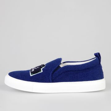 Fabric PARIS BLUE Slip On Sneakers