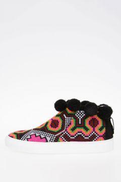 Sneakers in Tessuto Ricamato