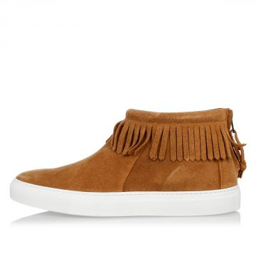 Suede Leather Ankle boots with Fringes