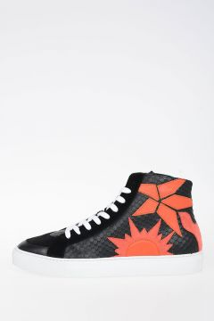 Hi-Top Leather Sneakers