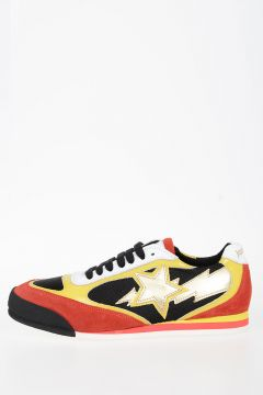SUNSHINE Leather and Fabric Sneakers