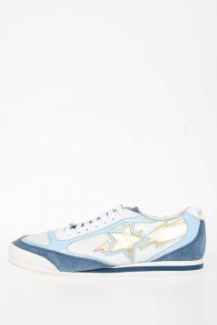 Sneakers in Pelle e Tessuto