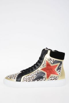 Hi-Top Leather Sneakers