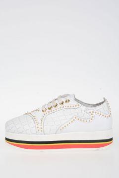 Sneakers in Pelle con Zeppa
