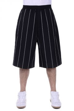 Striped Bermuda with Drawstring