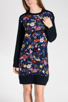 Wool and Silk Printed Tunic Dress