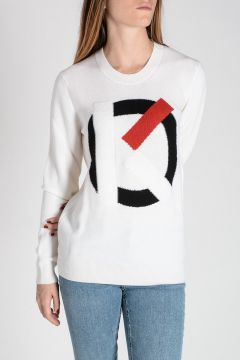 Logo Intarsia Merino Wool Sweater