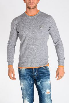 Wool Sweater with Tiger Patch