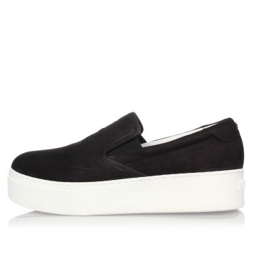 Sneakers Slip On in Pelle